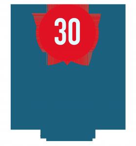 Logo 30 anni - lavorazioni meccaniche di precisione Gima